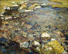 John Singer Sargent Val d'Aosta(A Stream over Rocks; Stream in Val d'Aosta) 1909. Oil on canvas 21 5/8 x 27 1/2 in. Patrick Saunders Fine Arts: Favorite painting: Brooklyn Museum of Art