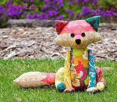 Fox Softie PDF Sewing Pattern, Francie the Fox Stuffed Animal Pattern, Patchwork Fox Pattern