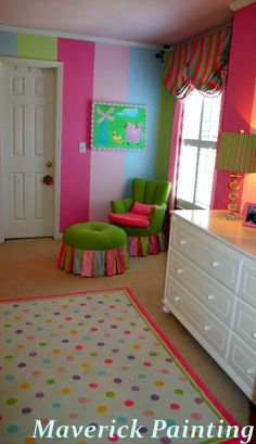 Girls Bedroom Paint Ideas Stripes 13 ways to create a vibrant and cheerful room | hgtv, teen and room