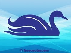 Swan Free Vector Airplane Silhouette, Silhouette Clip Art, Animal Silhouette, Free Vector Images, Vector Free, Water Ripples, Zoo Animals, Sea Creatures, Vector Graphics