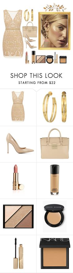 """Bronze and Coral🌤"" by jbeb ❤ liked on Polyvore featuring Nicole Miller, Tory Burch, Gianvito Rossi, Furla, MAC Cosmetics, Elizabeth Arden, Bobbi Brown Cosmetics, Stila and NARS Cosmetics"