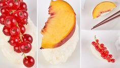 Süßes Milchreis-Sushi #sweet #sushi #selfmade #dessert #fruits #diy #mahlzeit Sushi, Asian Style, Pineapple, Food Porn, Healthy, Sweet, Desserts, Milk, Rice