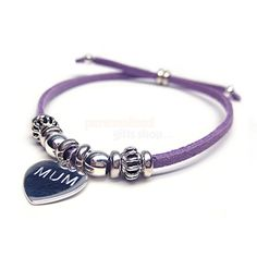 Personalised India Bracelet - Purple  from Personalised Gifts Shop - ONLY £15.95