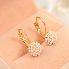 1 Pair New Fashion Jewelry Women Lady Elegant Simulation Pearl Beads Ear Stud Earrings Jewelry Party, Wedding Jewelry, Jewelry Gifts, Jewelery, Fashion Earrings, Fashion Jewelry, Women Jewelry, Pendant Earrings, Women's Earrings