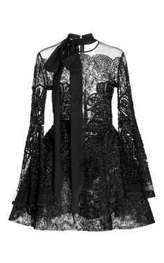 Bead Embroidered Short Dress by ELIE SAAB for Preorder on Moda Operandi