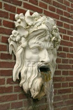 - Millions of Creative Stock Photos, Vectors, Videos and Music Files For Your Inspiration and Projects. Sculpture Head, Lion Sculpture, Fish Pond Gardens, Gothic Gargoyles, Garden Plaques, Garden Junk, Garden Fountains, Architectural Features, Animal Heads