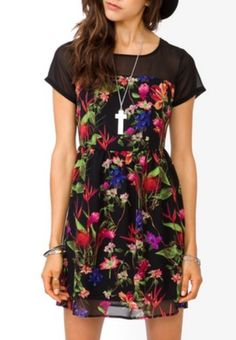 Such an adorable dress! I love the floral print on it!! I recently bought a similar one from Forever 21 and can't wait for summer so I can wear it without getting weird looks for wearing a summer dress in spring!