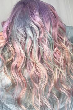 Pink Hairstyles as the Inspiration to Try Pink Hair 12 Mermaid Hair Color Ideas Amazing Mermaid Hairstyles for 2019 - Coiffure Sites Purple Hair, Ombre Hair, Ariel Hair, Pelo Multicolor, Golden Brown Hair, Cool Hair Color, Kids Hair Color, Hair Videos, Balayage Hair