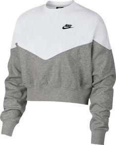 Nike Fleece Colorblocked Cropped Sweatshirt - Grey Heather/White Source by macys Sweatshirts Nike Fleece, Teen Fashion Outfits, Trendy Outfits, Fall Outfits, Cute Nike Outfits, Fashion Dresses, Womens Fashion, Jugend Mode Outfits, Teenager Outfits