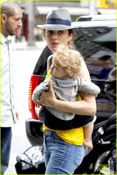 Marion Cotillard and her son in NYC, May 2012