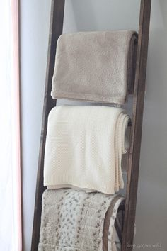 Blanket ladder | 23 DIY Projects For People Who Suck At DIY