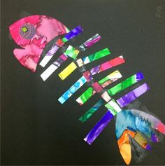 Fish Out of Water : paint your own tail and head and use the group's cut out for your bones. We all support each other!