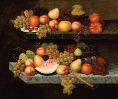 "Joseph Goodhue Chandler, ""Still Life with Fruit."" Museum of Fine Arts, Boston."