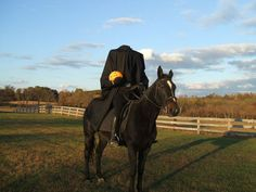 how to make a headless horseman costume for Halloween Carnival Birthday Party...