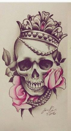 - CoolTop Friend Tattoos – tatouage # Tatouage The Ef - Small Skull Tattoo, Skull Tattoo Flowers, Skull Rose Tattoos, Skull Tattoo Design, Leg Tattoos, Flower Tattoos, Body Art Tattoos, Sleeve Tattoos, Celtic Tattoos