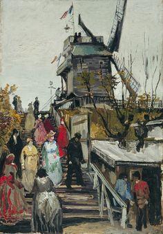 Le Moulin de Blute-Fin, 1886. Vincent van Gogh