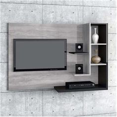 49 Affordable Wooden Tv Stands Design Ideas With Storage - TV Stands - Ideas of. Tv Unit Furniture Design, Tv Unit Interior Design, Tv Unit Decor, Tv Wall Decor, Diy Wall, Tv Cabinet Design, Tv Wall Design, Armoires Murales Tv, Deco Tv