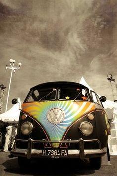 VW van mooie kleuren