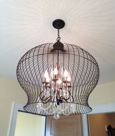 Lightning , 7 Stunning Birdcage Light Fixture : Bird Cage Light Fixture