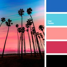 black color, blue-color, bright blue, color matching, coral, coral red, garnet color, neon blue, pink sunset colors, sea sunset color, shades of pink sunset, sunset color.