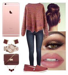 """"""""""" by yanniixo on Polyvore featuring H&M, TOMS, Topshop, MICHAEL Michael Kors and Forever 21"""