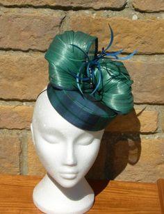 Tartan Pillbox with silk abaca trim BY MARION LOWE #millinery #hats #HatAcademy