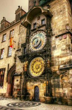 The Prague astronomical clock -- installed in 1410 -- it's the oldest operating clock in the world.