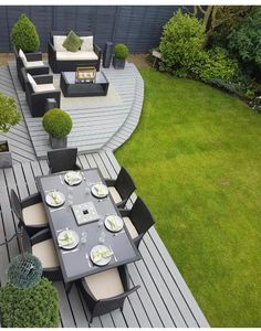 Amazing Ideas for Small Backyard Landscaping - My Backyard ideas Back Garden Design, Modern Garden Design, Backyard Patio Designs, Small Backyard Landscaping, Backyard Ideas, Garden Decking Ideas, Back Garden Ideas, Pinterest Garden, Design Jardin