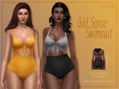 Sims 4 Updates: TSR - Clothing, Female : Odd Sense Swimsuit by Trillyke, Custom Content Download!