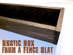 How to build rustic wood planter