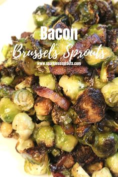 Bacon Brussels Sprouts are the perfect side for dinner tonight.  It comes together super quick and all in one pan making it a dish you can enjoy anytime. . #bacon #brusselssprouts #side #sidedish #recipe #keto #sparklesnsprouts