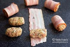Chiftelute in bacon Tasty, Yummy Food, Carne, Sausage, Bacon, Food And Drink, Pizza, Romanian Food, Recipes