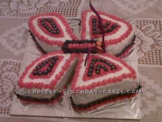 Coolest Butterfly Birthday Cake ... This website is the Pinterest of birthday cakes