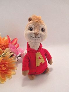 """Alvin Chipmunk Plush Stuffed Animatl TY Collectible Pop Culture 6"""" Bean Bag Toy  #ty"""