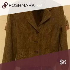 Brown coat size 10 Line patterned coat Jackets & Coats Blazers
