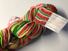 watermelon self-striping yarn