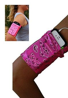 Pink Bandana Cell Phone Armband - http://www.exercisejoy.com/pink-bandana-cell-phone-armband/fitness/