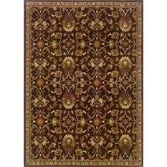 $219 if I use that coupon!!    Indoor-Floral-Brown-Beige-Rug-910-x-129