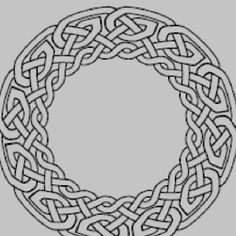 Celtic knot style. Possibly for trying to carve.