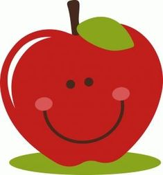 I think I'm in love with this shape from the Silhouette Design Store! Preschool Crafts, Crafts For Kids, Apple Clip Art, Bus Art, Silhouette Online Store, School Clipart, Apple Theme, Cute Fruit, Cartoon Sketches