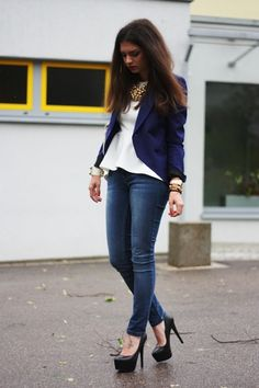 Peplum and blazer