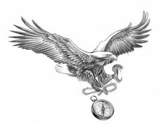 Eagle compass design #caspian #caspiandelooze #tattoodesign