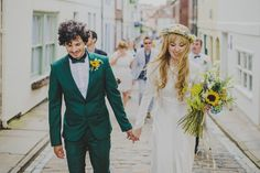 Sunflowers, Sunshine and Two Dresses For An Intimate Beach Wedding in Whitby | Love My Dress® UK Wedding Blog