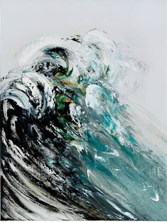 Maggi Hambling, Rising Wave From a powerful group of large-scale paintings depicting the power and energy of the North Sea. Maggi Hambling, Wave Art, A Level Art, Art Graphique, Caravaggio, Elements Of Art, Painting Inspiration, Female Art, Cool Art