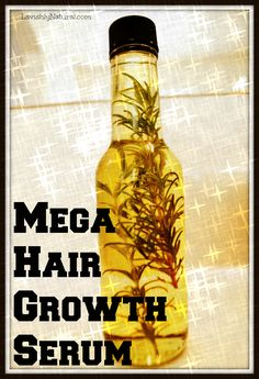 Hair Remedies How To Make Your Own Mega Hair Growth Serum - Lavishly Natural - simply effective hair growth serum that also reduces shedding, adds shine, and stimulates hair growth awesome-ness 4c Natural Hair, Pelo Natural, Natural Hair Styles, Natural Beauty, Natural Hair Growth Tips, Organic Beauty, Hair Remedies For Growth, Hair Loss Remedies, Hair Serum