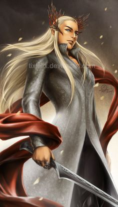 Thranduil by TixieLix.deviantart.com on @deviantART