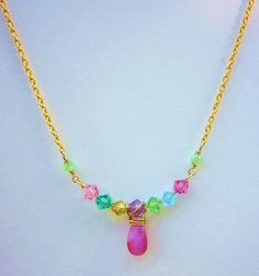 Soft Pastel Colored Swarovski Bicone Crystal Pink by LaJolieLolita, $16.99
