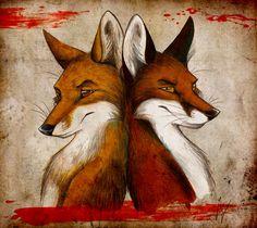 Fox and Fox by Culpeo-Fox.deviantart.com on @DeviantArt