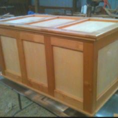 Maple and alder cedar chest I built for daughter's Christmas present. Retail $800