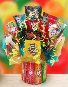 Bubblicious Bubble Gum & Candy Bouquet from All About Gifts and Baskets